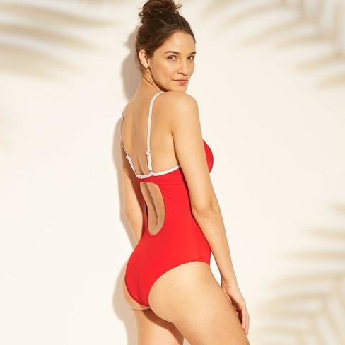 fee29d3003da2 Women s Cabana Light Lift One Piece Swimsuit - Shade   Shore™ Red 34DDD    Target