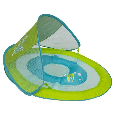 Baby Spring Float Sun Canopy - Green Fish