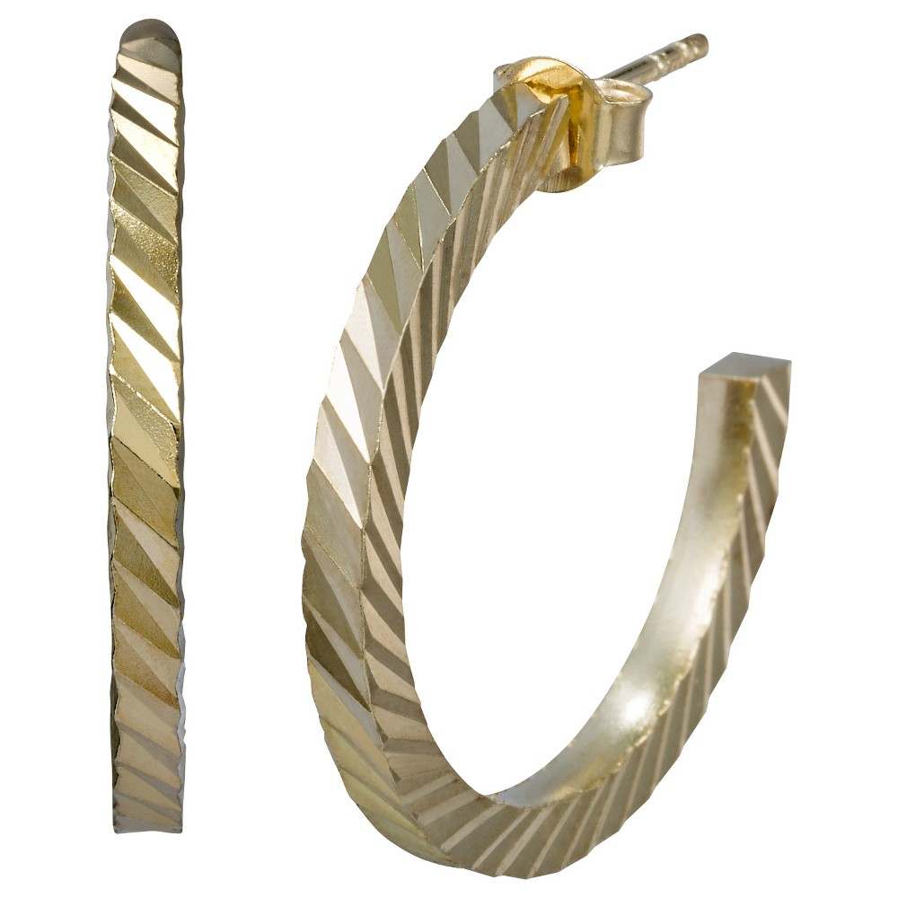 Textured Half Hoop Earring - Gold, Girl's, Gold Fusion