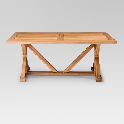 Delightful Morie Farmhouse Wood Outdoor Dining Table   Threshold™