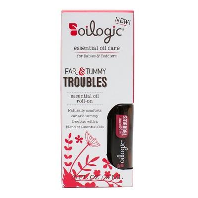Oilogic Ear & Tummy Troubles Essential Oil Roll-On - 0.30oz