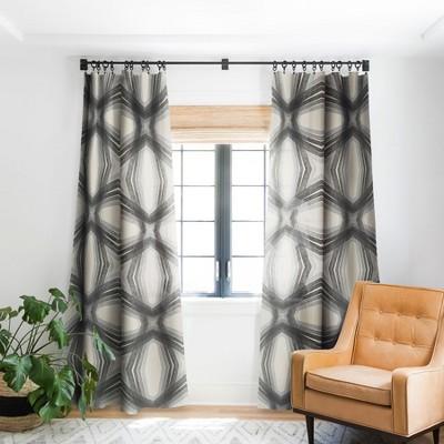 Sewzinski Modern Lines Grays Single Panel Blackout Window Curtain - Society6