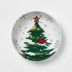 33oz Melamine Holiday Tree Dining Bowl White - Wondershop™