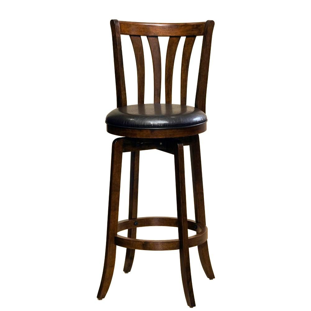 "Image of ""25.5"""" Savana Swivel Counter Stool Cherry/Black - Hillsdale Furniture, Red/Black"""