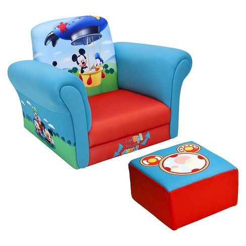 Upholstered Chair with Ottoman Disney Mickey Mouse - Delta Children - image 1 of 3