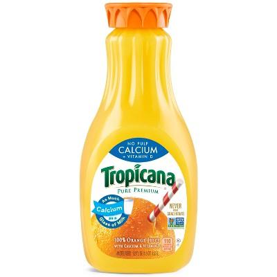 Tropicana Pure Premium Calcium & Vitamin D No Pulp Orange Juice - 52 fl oz