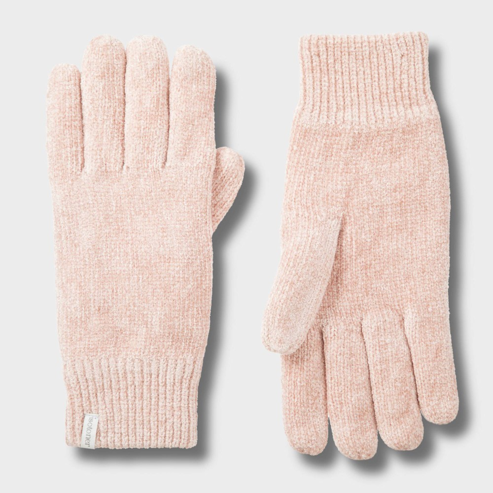 Image of Isotoner Women's Chenille Glove - Blush One Size, Women's