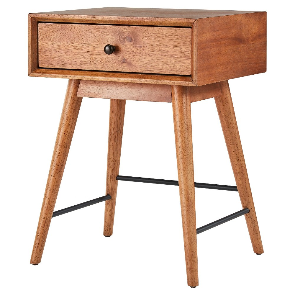 Foerster Mid Century Accent Table - Warm Brown - Inspire Q