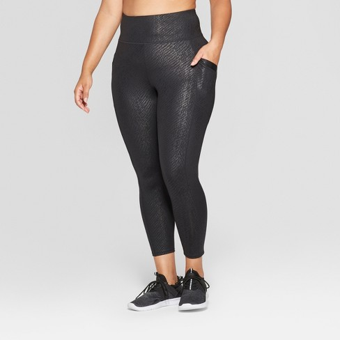 Women's Plus Size High - Waisted Printed 7/8 Mid-Rise Leggings - JoyLab™ - image 1 of 2