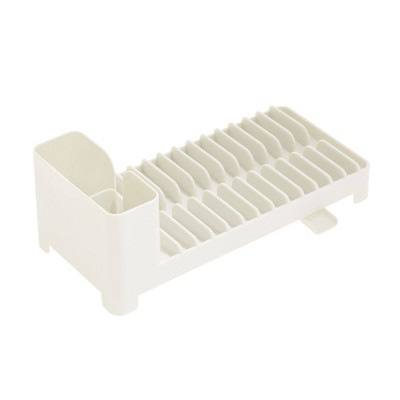iDESIGN Clarity Compact Dish Drainer with Swivel Spout - Coconut