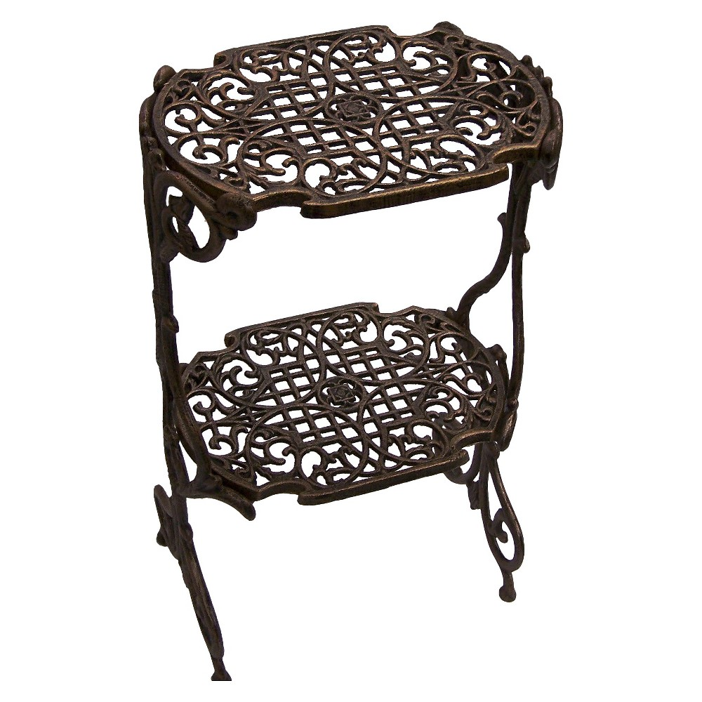 Image of Oakland Living 2 Level Rectangular Plant Stand - Antique Bronze