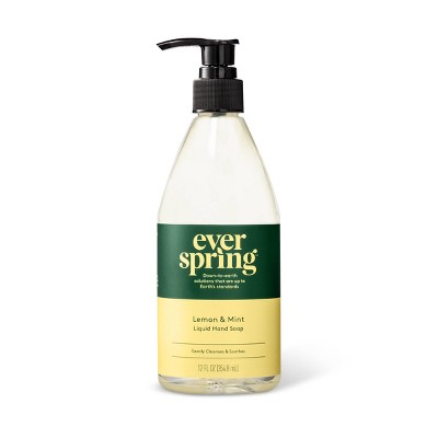 Lemon & Mint Liquid Hand Soap - 12 fl oz - Everspring™