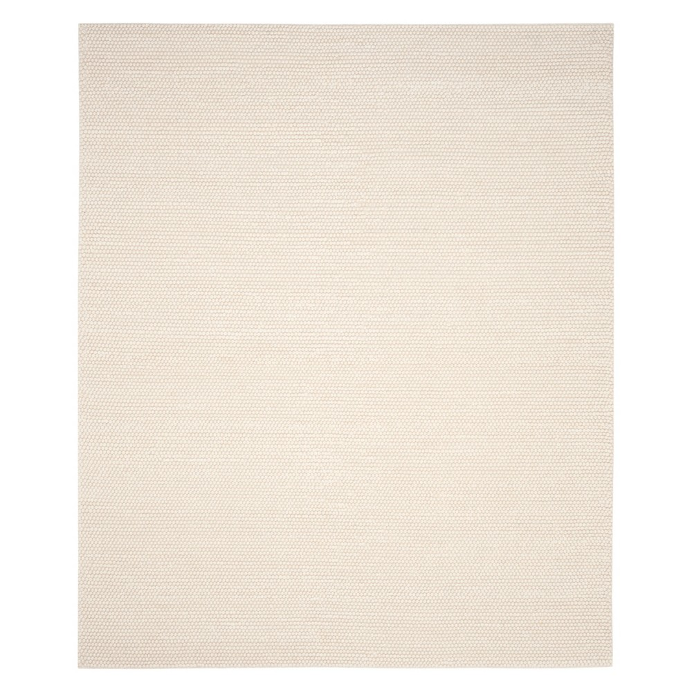 Solid Woven Area Rug Ivory