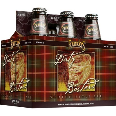 Founders Dirty Bastard Scotch Style Ale Beer - 6pk/12 fl oz Bottles