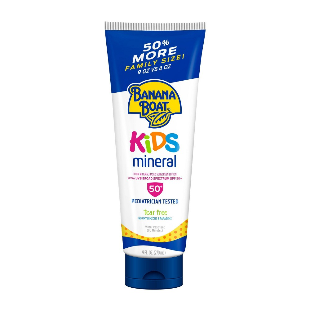 Image of Banana Boat Kids Mineral Sunscreen Lotion - SPF 50+ - 9oz