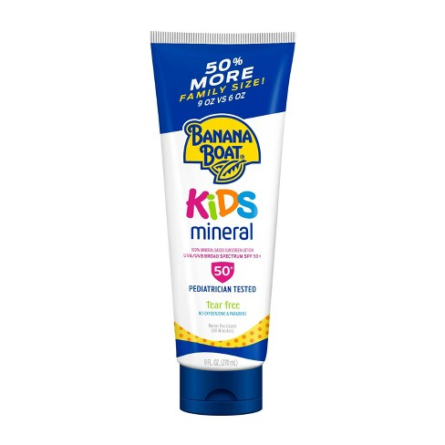 Banana Boat Kids Mineral Sunscreen Lotion - SPF 50+ - 9oz - image 1 of 4