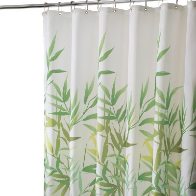 Leaf Shower Curtain Green - iDESIGN