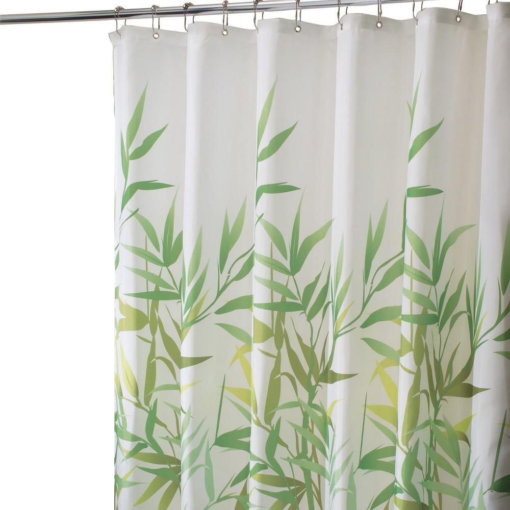 Image of Anzu Polyester Shower Curtain Green - InterDesign