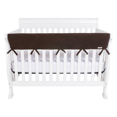 Trend Lab Fleece Front Rail Cover for Convertible Cribs - Brown