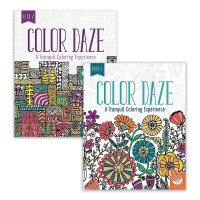 MindWare Color Daze: Set Of 4 With 24 Free Markers - Coloring Books
