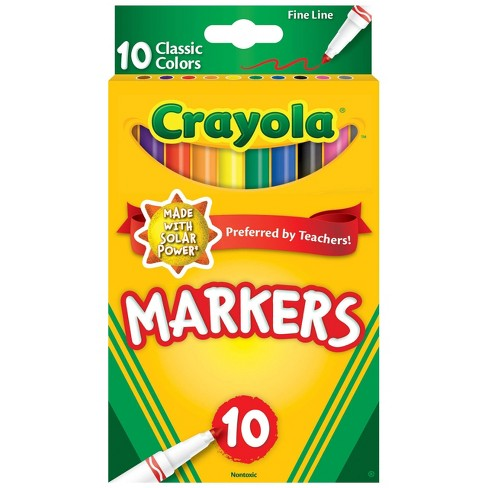 Crayola 10ct Fine Line Markers Classic Colors - image 1 of 4