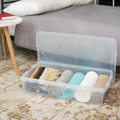 3pk 40qt Underbed Store and Slide Storage Box