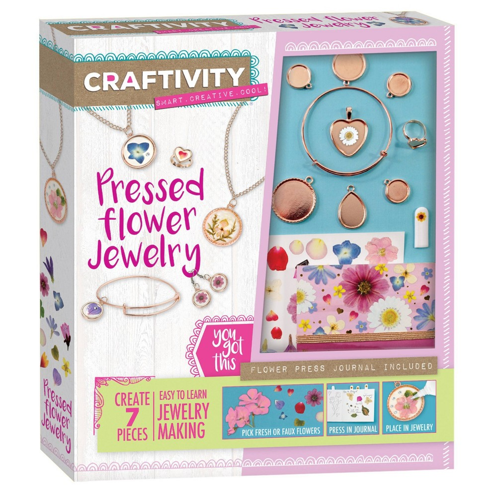 Craftivity Pressed Flower Jewelry Craft Kit Faber Castell
