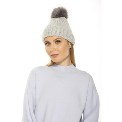 Alexia Admor Darla Knitted Beanie With Rhinestones And Pom