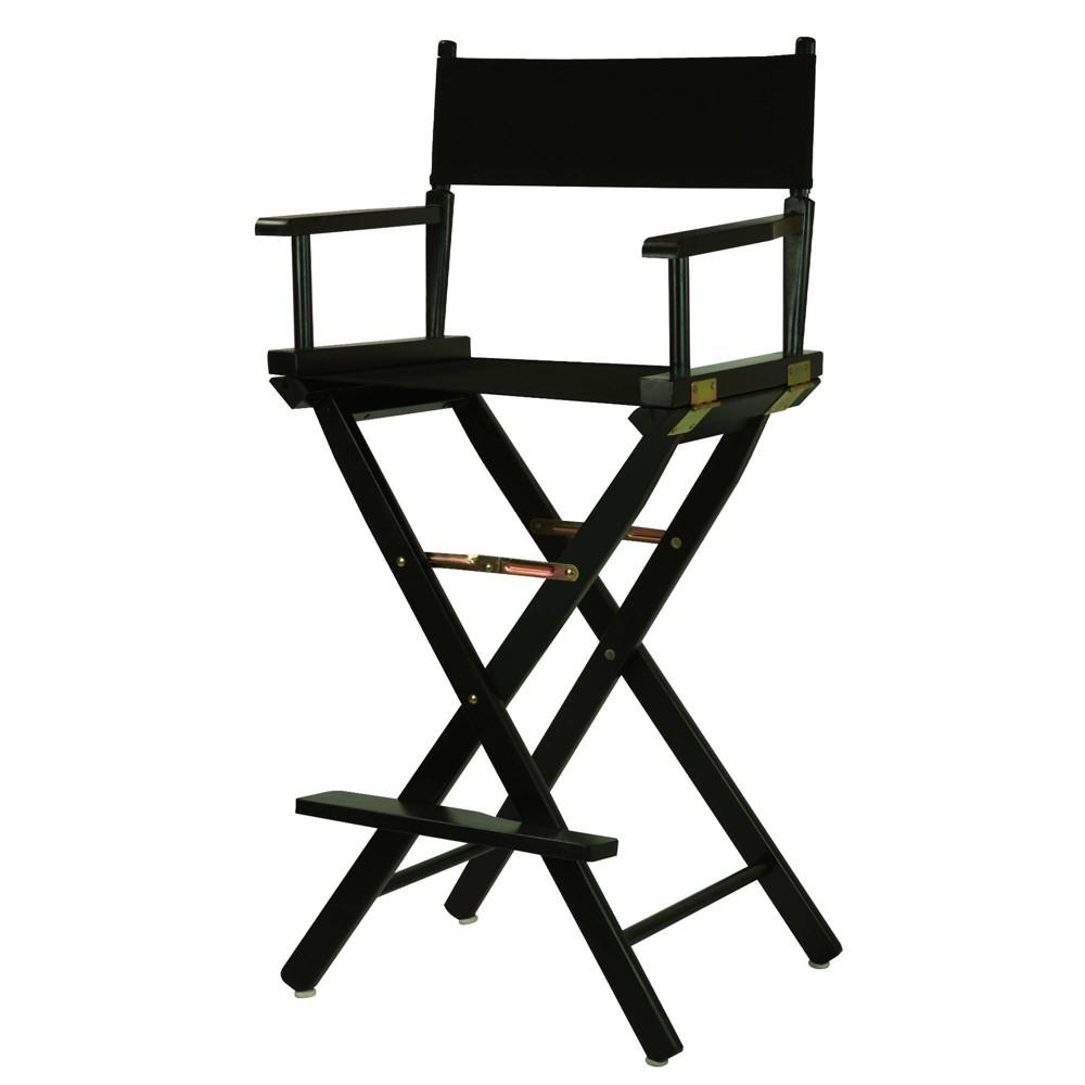 Bar Height Director S Chair Black Frame Black Canvas