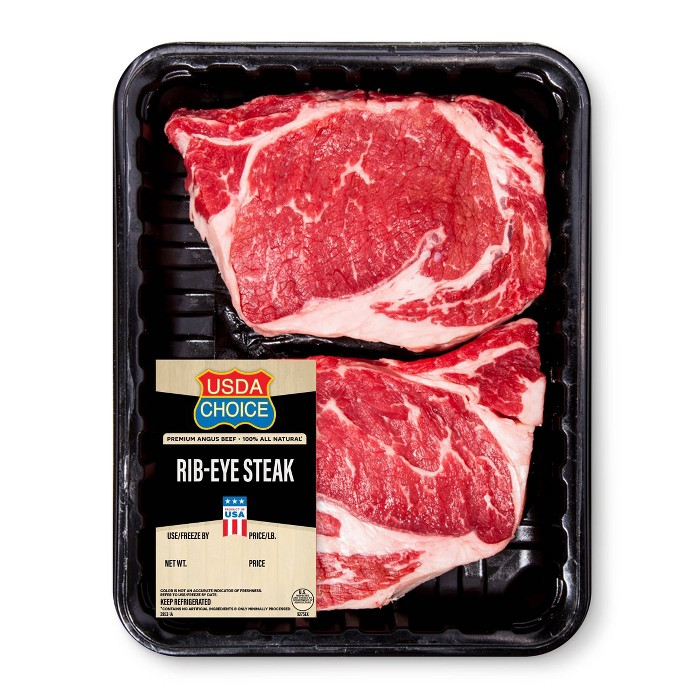 USDA Choice Rib-Eye Steak Value Pack - 1.33-2.67lbs - priced per lb - image 1 of 1
