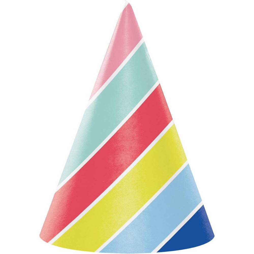 Image of 24ct Over The Rainbow Party Hats, Kids Unisex