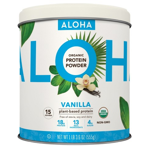 Aloha True Protein Powder - Vanilla Bean - 18oz - image 1 of 1