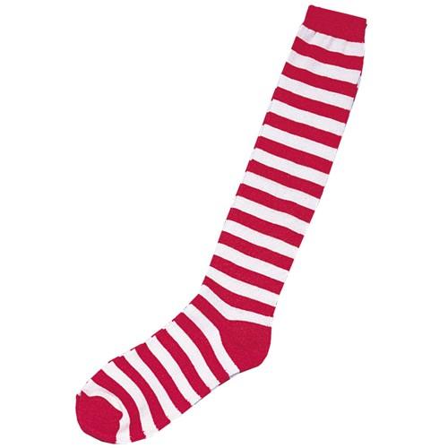 Halloween Adult Rag Doll/Elf Socks Red/White Costume, Adult Unisex
