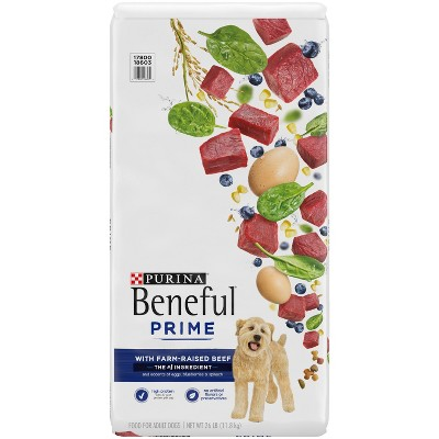 Purina Beneful Prime High Protein with Real Beef Adult Dry Dog Food - 26lbs