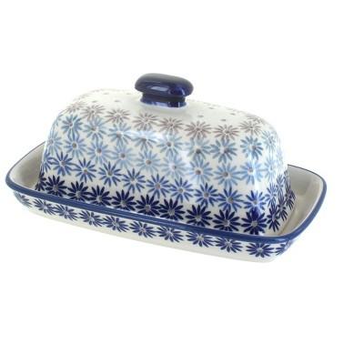 Blue Rose Polish Pottery Harmony Butter Dish