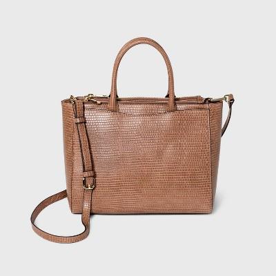 Triple Compartment Satchel Handbag - A New Day™