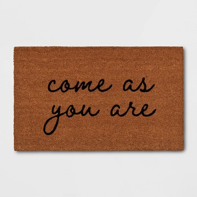 "1'6""x2'6"" Come As You Are Door Mat Black - Threshold™"