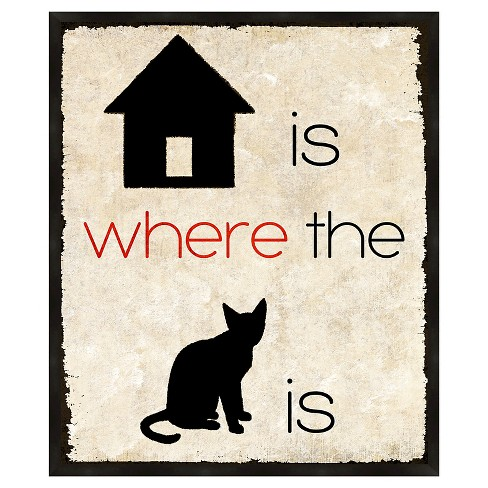 Home Is Where The Cat Is Wall Art - image 1 of 1