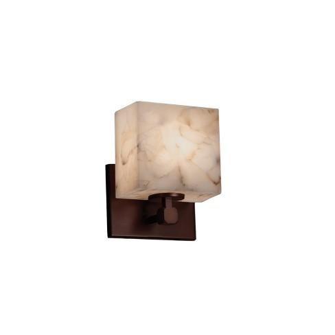 """Justice Design Group ALR-8427-55-LED1-700 Alabaster Rocks 6"""" Tetra LED Single Light ADA Approved Bathroom Sconce - image 1 of 1"""