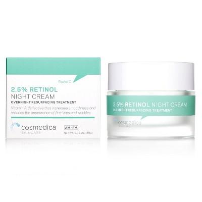 Cosmedica Skincare 2.5% Retinol Facial Night Cream - 1.76oz
