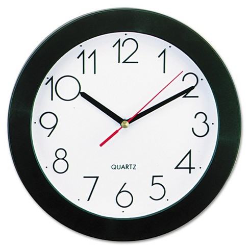 "9¾"" Round Wall Clock White/Black - Universal® - image 1 of 1"