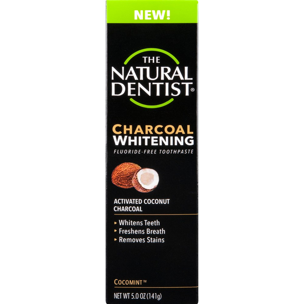 Image of The Natural Dentist Charcoal Whitening Cocomint Toothpaste - 5oz