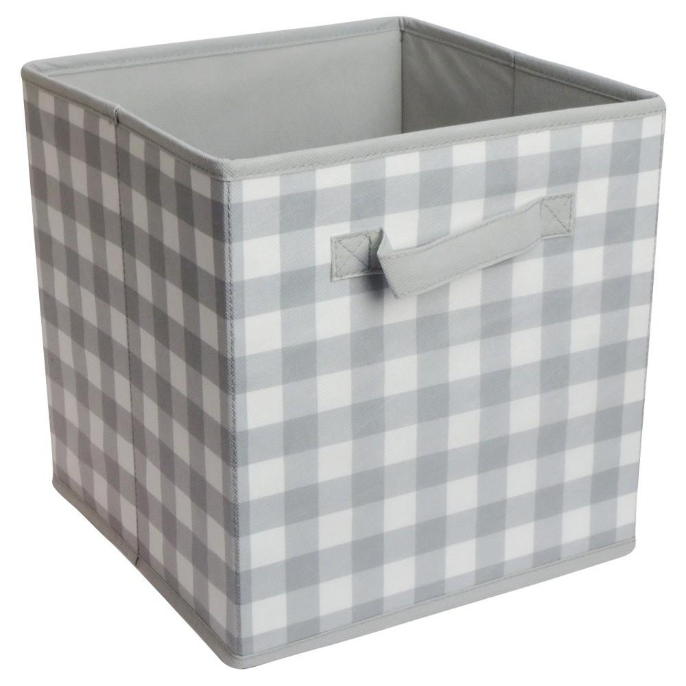 Circo storage cube, 11 Gringham Gray, White/Gray