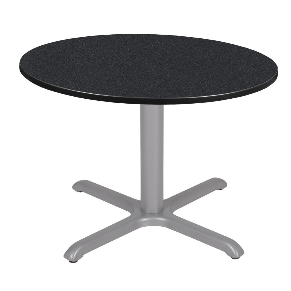42 Via Round X - Base Table Carbon/Gray (Black/Gray) - Regency