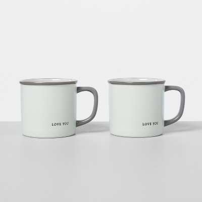 2pk Love You Mug Set - Hearth & Hand™ with Magnolia