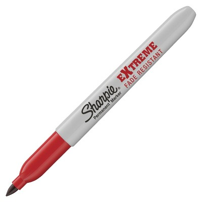 Sharpie Extreme Permanent Marker, Fine Tip, Red, pk of 12