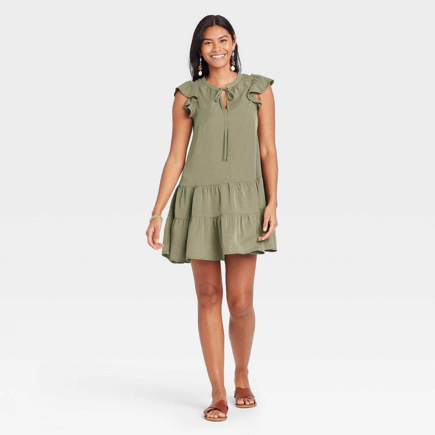 Women's Flutter Short Sleeve Ruffle Dress - Knox Rose™ - image 1 of 8