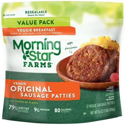 Morningstar Farms Original Sausage Patties Frozen - 16oz/12ct