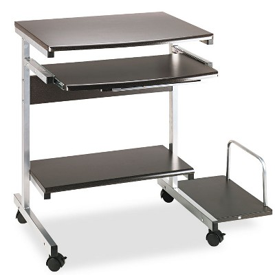 Mayline Portrait PC Desk Cart Mobile Workstation 36-1/2w x 19-1/4d x 31h Anthracite 946ANT