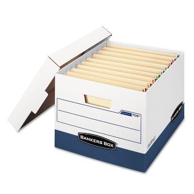 Bankers Box STOR/FILE Max Lock Storage Box Letter/Legal White/Blue 12/Carton 00709